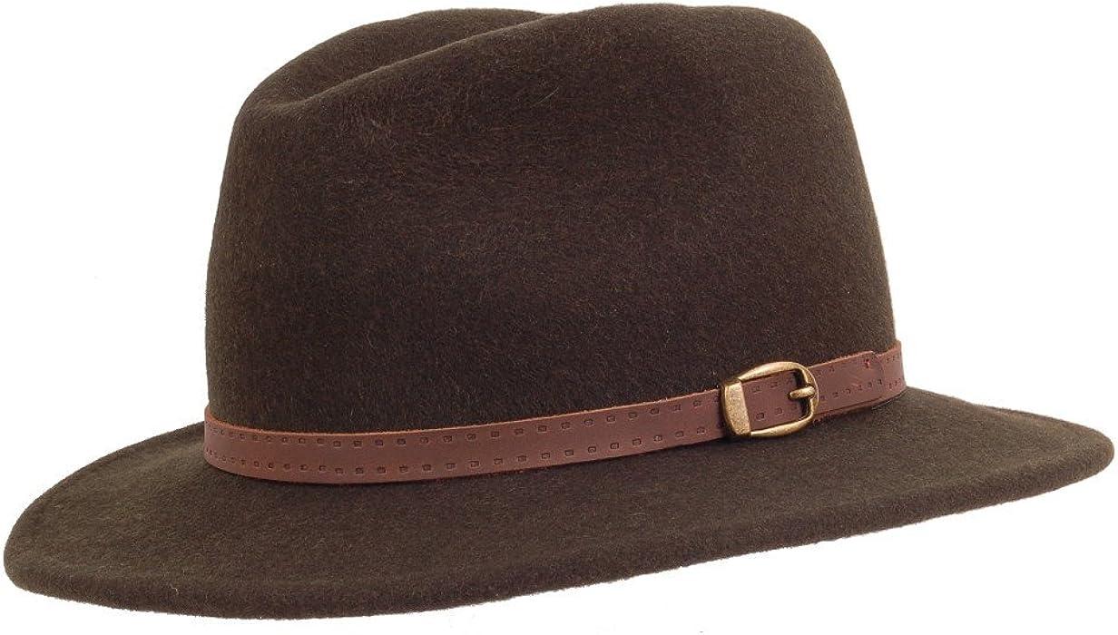 Olney Safari Hat Black Mix E159 Large