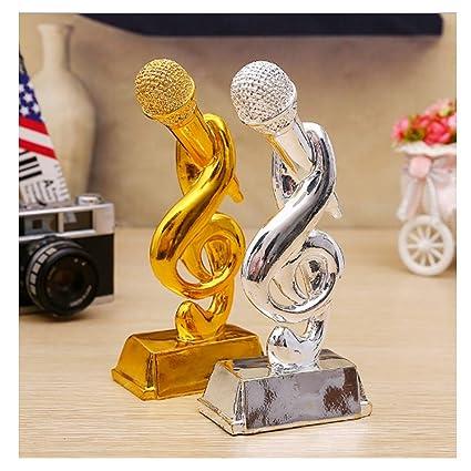 ZTXY Trofeo de micrófono Dorado Campus Singer Copa de Premio KTV ...