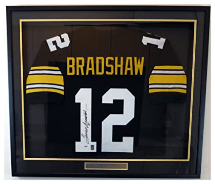 reputable site ee159 b0b43 Pittsburgh Steelers Terry Bradshaw Autographed Signed Framed ...