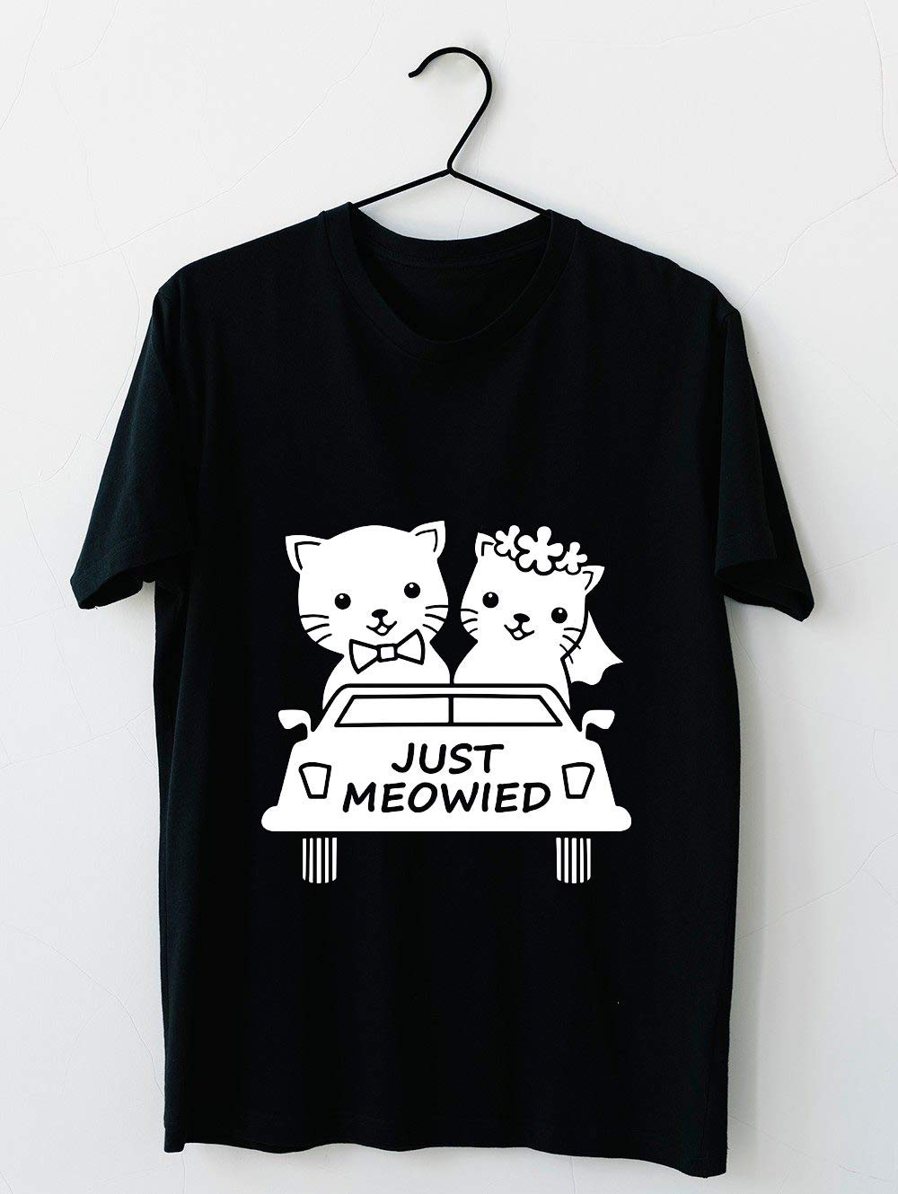 Funny Just Meowied Married Cat Lover 78 T Shirt For Unisex