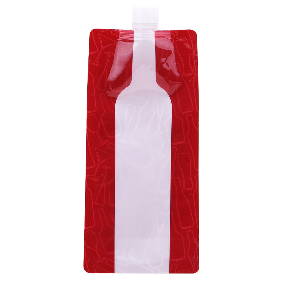 VWH Foldable Wine Bag Portable Reusable Wine Bottle Pouch Collapsible Liquid Leak Proof Flask Holder for Wine Liquor Beverages Travel