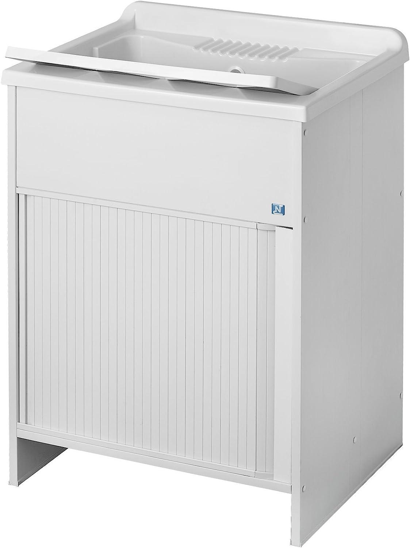 Negrari - 4006 k lavabos con puerta corredera, pvc, blanco, 45 x 50 x 85 cm: Amazon.es: Bricolaje y herramientas