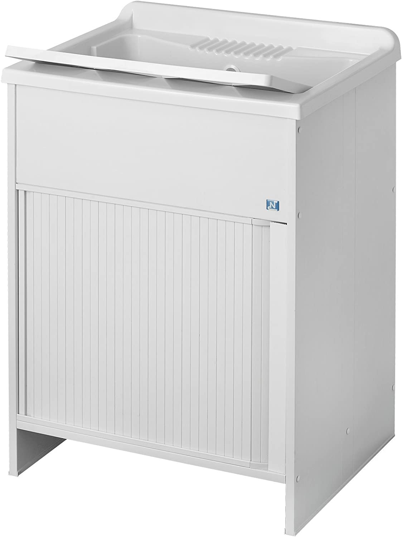 Negrari - 4006 k lavabos con puerta corredera, pvc, blanco, 45 x ...