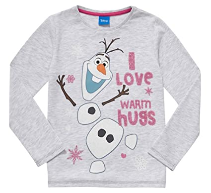7a840711 DISNEY FROZEN OLAF LONG SLEEVE T SHIRT/TOP 4-5YRS - New: Amazon.co.uk:  Clothing