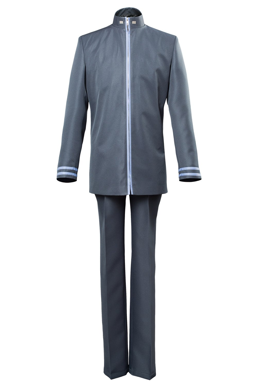 Grau L Karnestore Full Metal Panic  Invisible Victory Sousuke Sagara Schuluniform Cosplay Kostüm Herren L