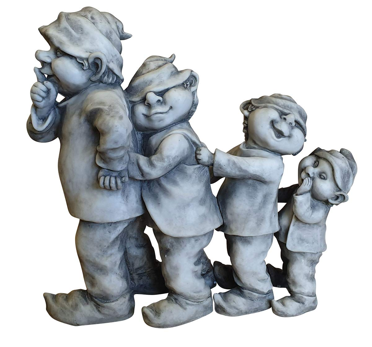 Wichtel 3er Set lustige Dekofiguren Zwerge 3 verschiedene Größen Gnome Kobolde