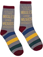 Out of Print Unisex Books Turn Muggles into Wizards Socks