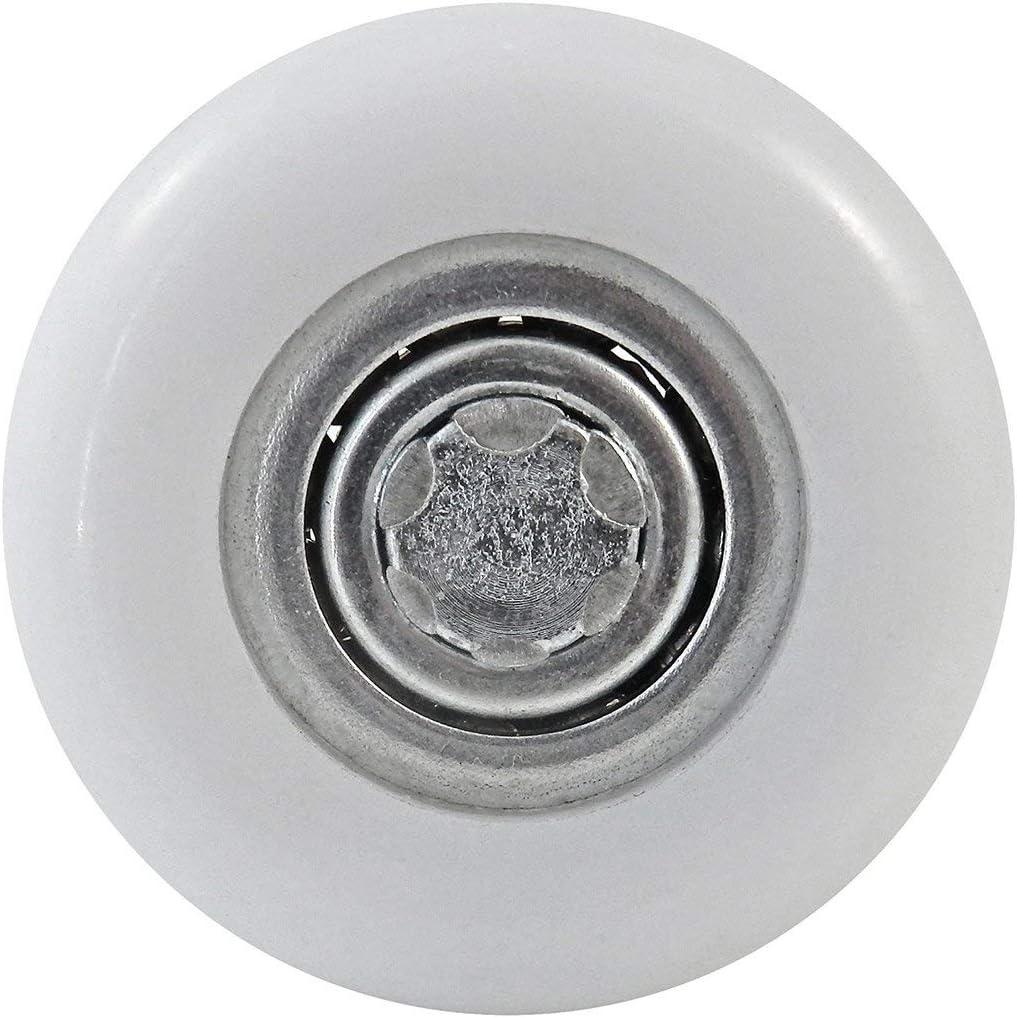 12 SNUG Fasteners Twelve Garage-Door-Roller Metallic Nylon 4 Stems // 2 Inch 13 Balls SGAR12
