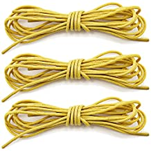 """DailyShoes Round Waxed Shoelaces Oxford Flat Dress Canvas Sneaker Shoe Laces (27"""" 36"""" 45"""" 54"""" 60"""" 78"""") Unisex Strings-3 Pairs"""