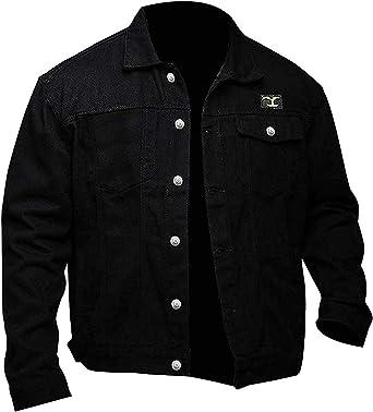 Fashion_First - Chaqueta de Piel de Ante y algodón para Hombre, Color Negro: Amazon.es: Ropa y accesorios