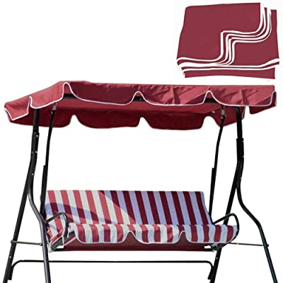 Swing Top Seat Cover Canopy Replacement Porch Patio Outdoor: Kitchen & Dining