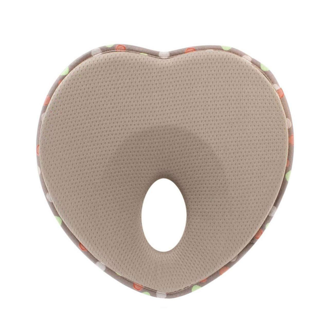 DEBAIJIA Babykissen gegen Verformung und Plattkopf mit Ergonomisches Kopfkissen zur Orthop/ädisches Kissen passt im Kindersitz Memory-Schaum f/ür S/äuglinge Neugeborene und Kleinkinder herzf/örmig