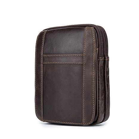 f685b997d0f KUAISUF Casual Genuine Leather Belt Bags Men Waist Pack Money Belt Waist  Bags Phone Bags Portable