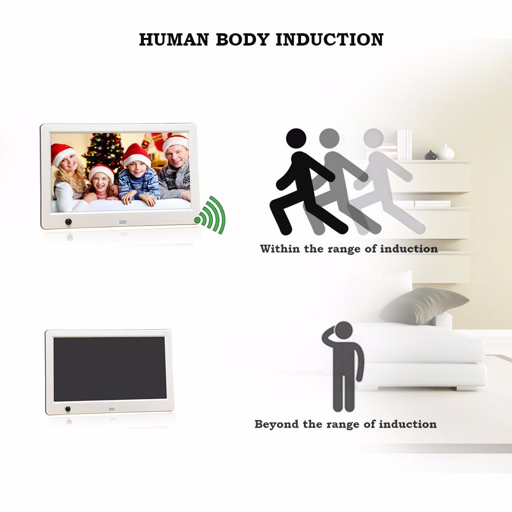 Sonmer 10inch High Definition Ultra-thin Digital Photo Frame,Human Body Induction,With Remote Control by Sonmer (Image #2)