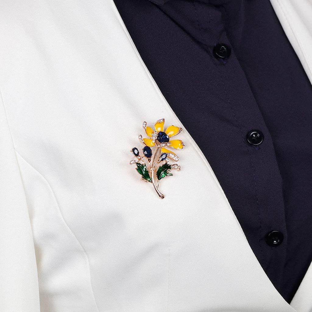 /écharpes et Chapeaux Folewr-8 /Él/égant Broche Femme Bijoux Strass de Fleur D/écoration pour V/êtements