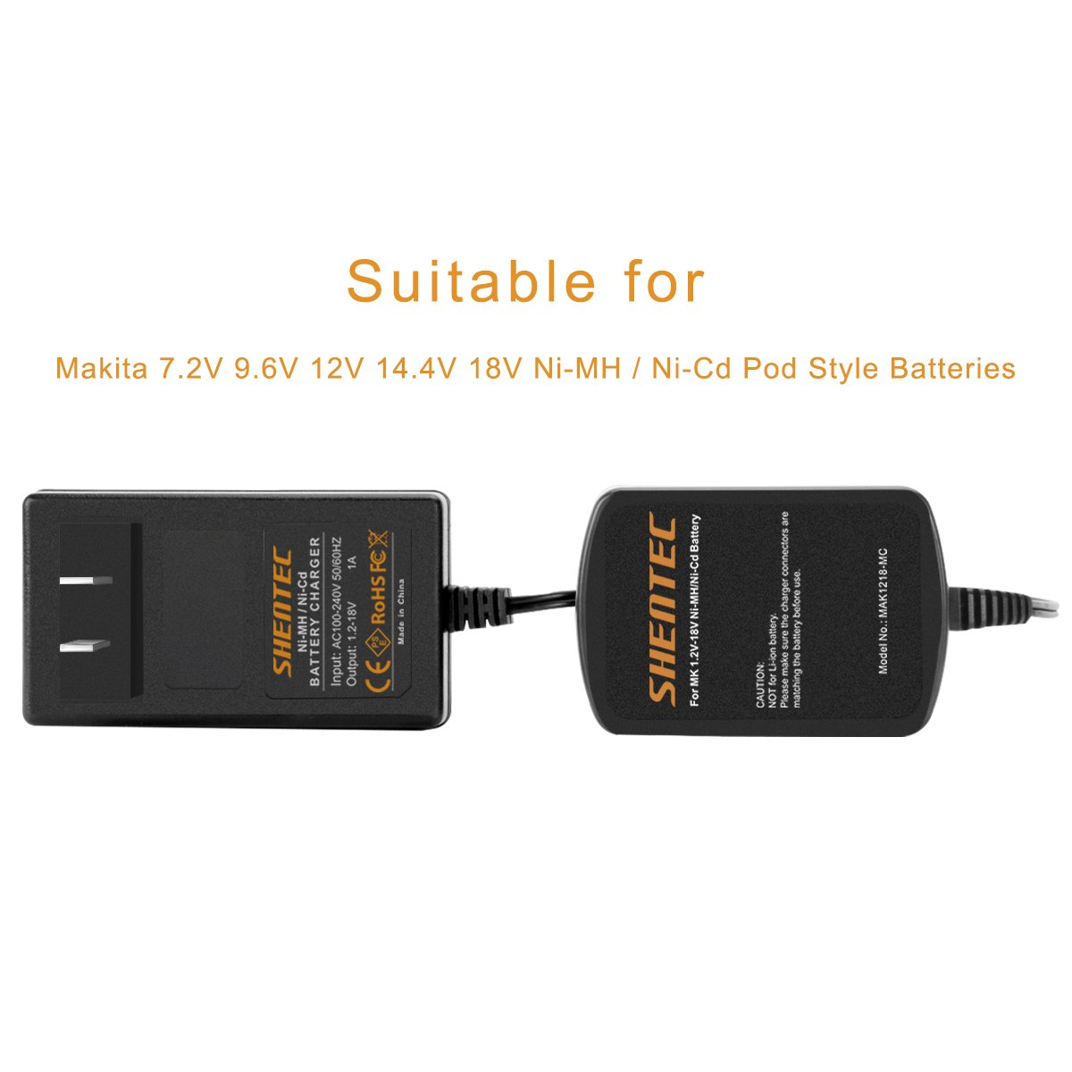 Shentec 12v 18v Charger Compatible With Makita 72v 96v 144v Battery Wiring Diagram Ni Mh Cd Pod Style Batteries Tools Home Improvement
