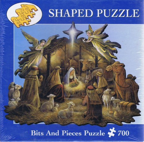 In The Manger 700 Piece Shaped Jigsaw Puzzle