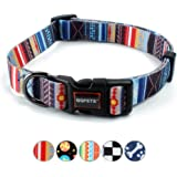 QQPETS Dog Collar Personalized Comfortable Adjustable Collars for Large Big Dogs Walking Running Training (L, Splicing)