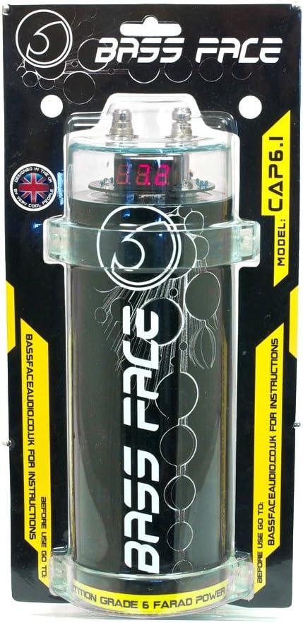 Bass Face CAP6.1 - Condensador para coche (12 V)