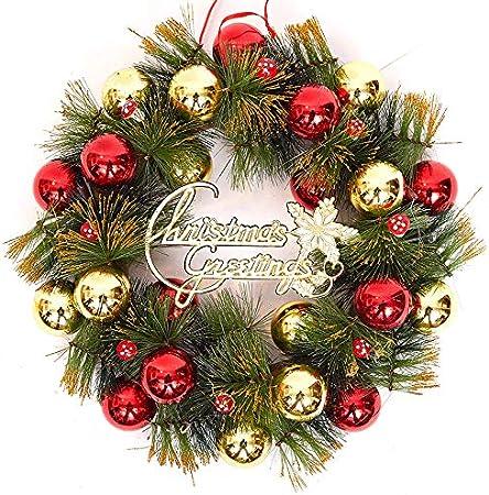 VHVCX Adorno deCorona de Navidad Guirnalda deNavidad Puerta Colgante Escena Arreglo Decoración Corona de Navidad Vine