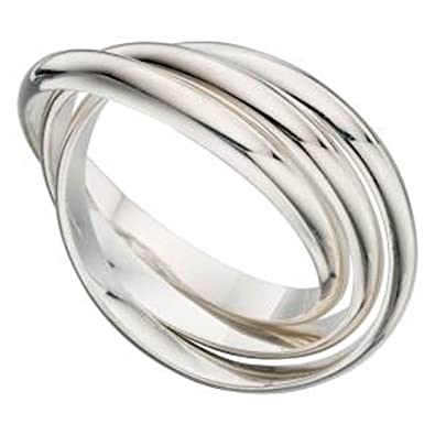 SPINNER REVOLVING SILVER RING UNISEX You choose size N up to Z2 tYGIk