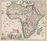Historical 1697 Standrart Antique Map of Africa (first Antique Map engraved by Homann) | 24in x 20in Fine Art Print