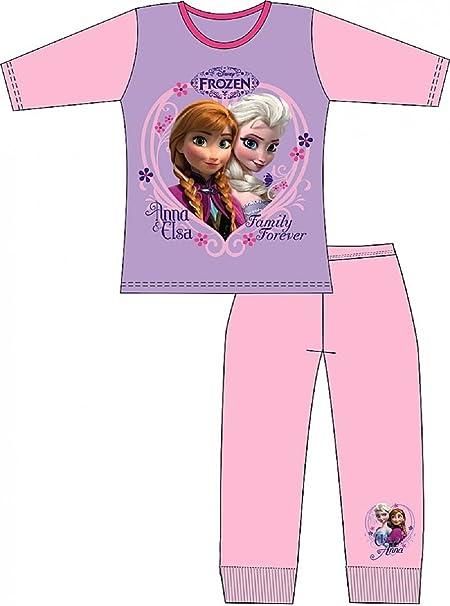 De princesa Elsa de Frozen Elsa largos pijama ropa de descanso para niñas: Amazon.es: Ropa y accesorios