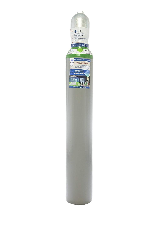 Argon 4.8 10 Liter Flasche/NEUE Argonflasche (Eigentumsflasche), gefü llt mit Argon 4.8 (Reinheit 99,998%) / 10 Jahre TÜ V ab Herstelldatum/EU Zulassung/PROFI-Schweiß argon WIG,MIG - Globalimport Gase Partner.de