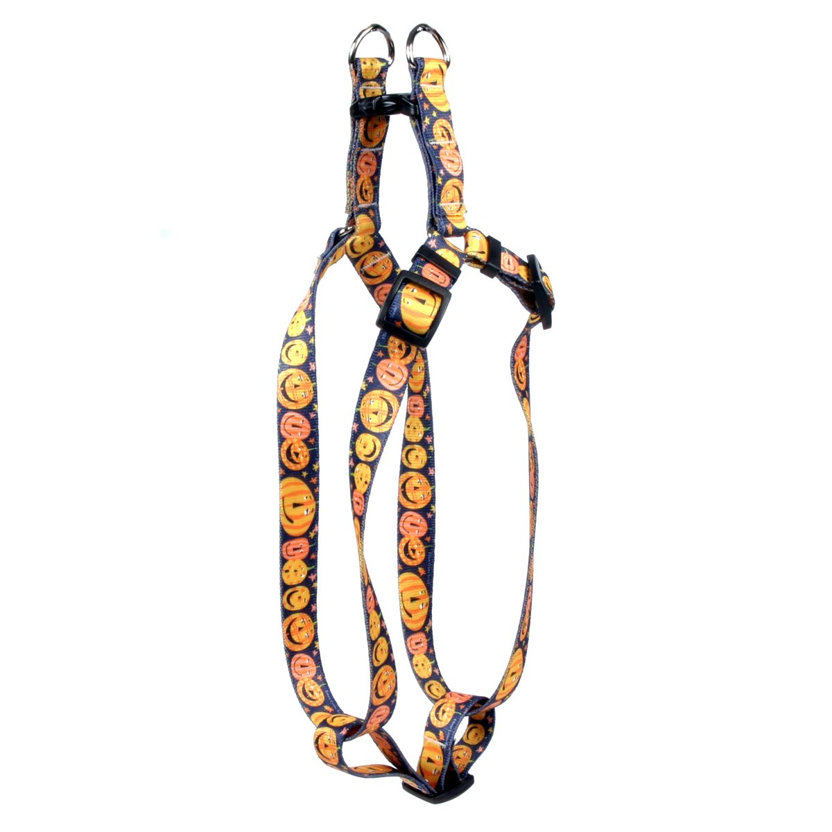 Yellow Dog Design Standard Step-In Harness, Pumpkin Party, Medium 15'' - 25'' by Yellow Dog Design