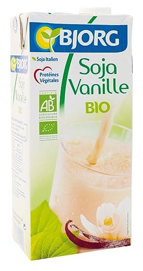 Bjorg Bebida Vegetal de Soja, Sabor Vainilla - Paquete de 12 x 1000 ml -