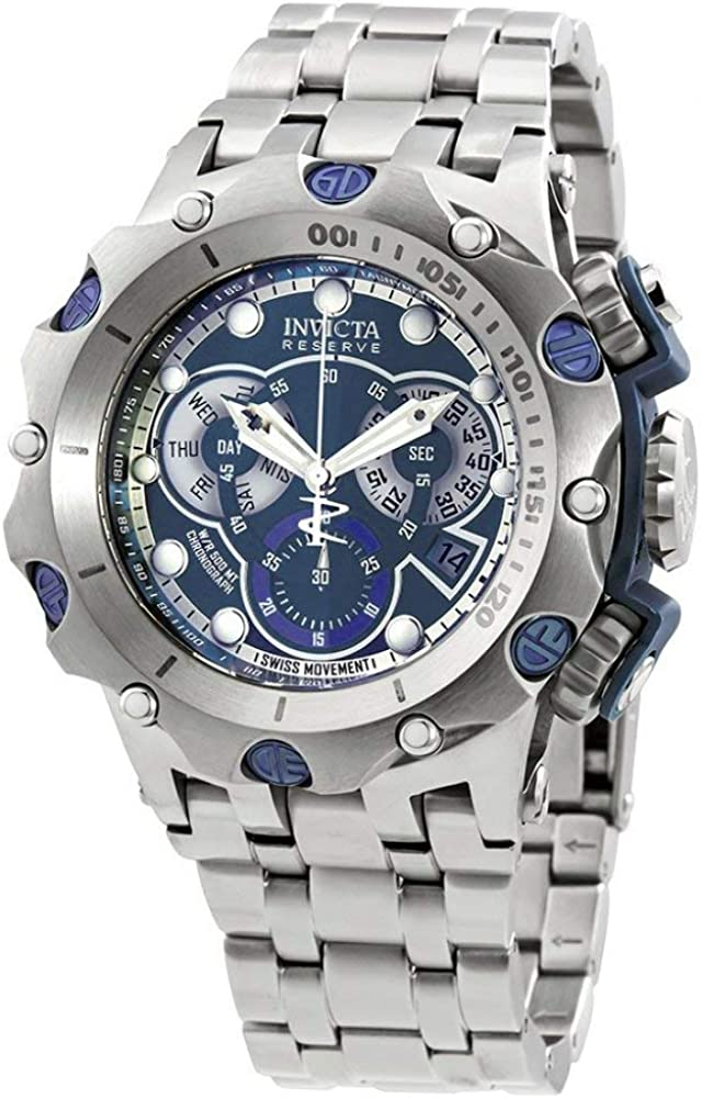 Invicta Men s Reserve Quartz Watch with Stainless Steel Strap, Silver, 28.2 Model 27787