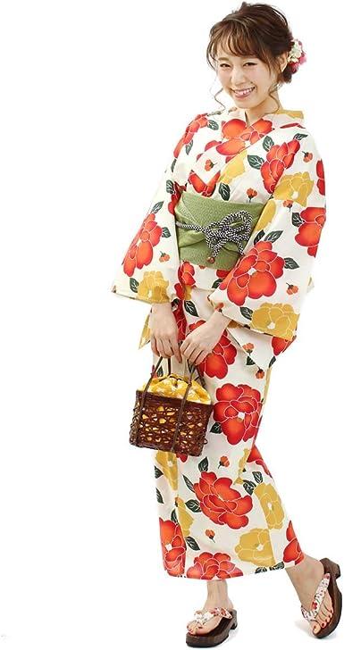 Kimono Ohkini japonés para Mujer Kimono – Yukata Naranja Cinturón OBI Set de 2 - Naranja - Talla Unica: Amazon.es: Ropa y accesorios