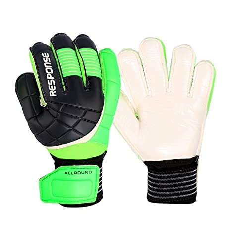 61bab11d917fa Professional Soccer Goalkeeper Gloves, RuiyiF Latex Finger Protection  Goalie Gloves for Adult Juniors