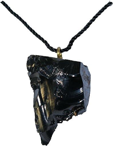 Shungite Pendant for Personal EMF Protection  Shungite for EMF Protection  Natural Chakra Healing Crystal  Karelian Heritage PE29