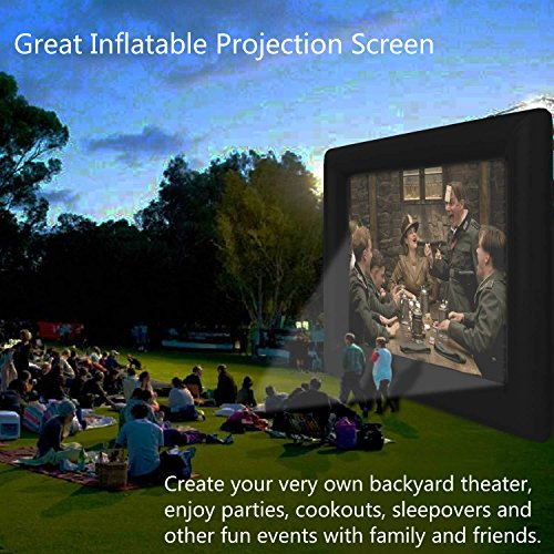 Vividy Outdoor Inflatable Movie Screen, Huge Portable Airblown Projection Screen, for a Backyard Theater Size-13.1 x 11.5ft (17.4ft diagonal) (US STOCK) by Vividy