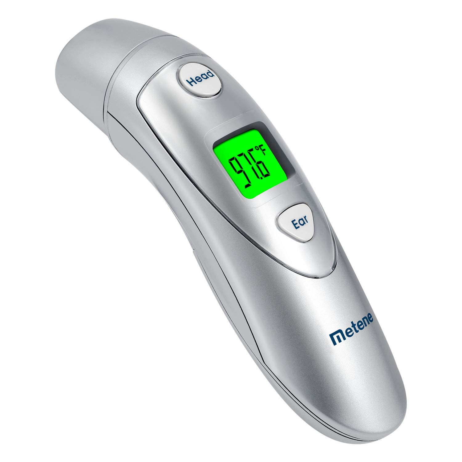 Metene Baby Thermometer with Fever Alert, Medical New Generation Digital Ear Thermometer with Forehead Function, Suitable for Baby, Kids and Adults by Metene