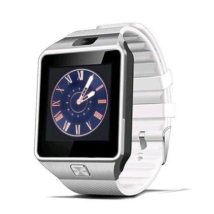 GEZICHTA DZ09 - Reloj inteligente Bluetooth con ranura para tarjeta SIM para hacer llamadas de teléfono, ...
