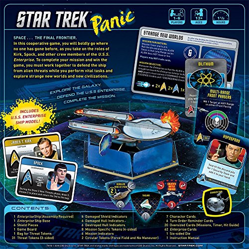 Amazon Usaopoly Star Trek Panic Board Game Cards Toys Games