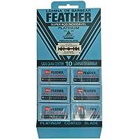 Lâmina Platinum Barbear 60 Peças - Feather