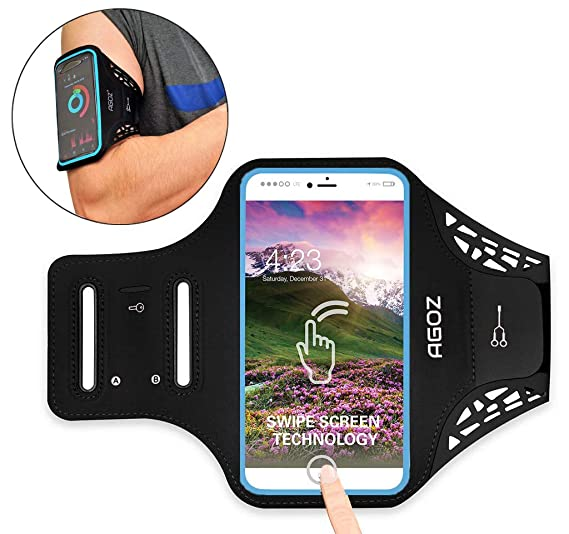 big sale e815d 1d434 Amazon.com: Agoz Armband Cell Phone Holder Case for Gym Exercise ...