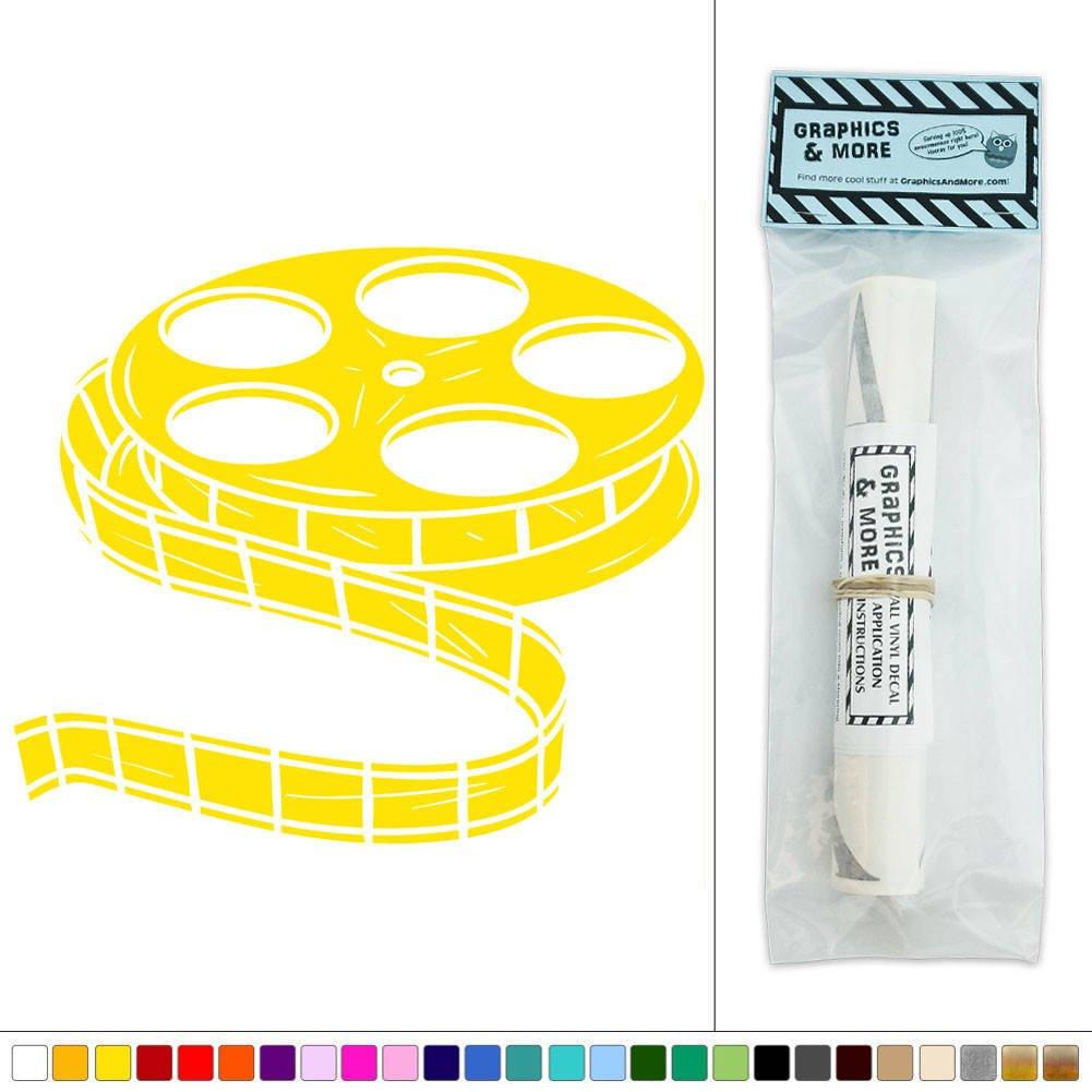 Movie Film Reel Vinyl Sticker Decal Wall Art Décor - Yellow: Amazon ...
