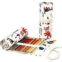 TOYESS - Estuche grande para niños y niñas, con bolsillos triples personalizados con grandes compartimentos para la…