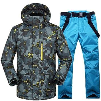 Z&X Chaqueta de esquí para Hombre: a Prueba de Nieve, cálida ...