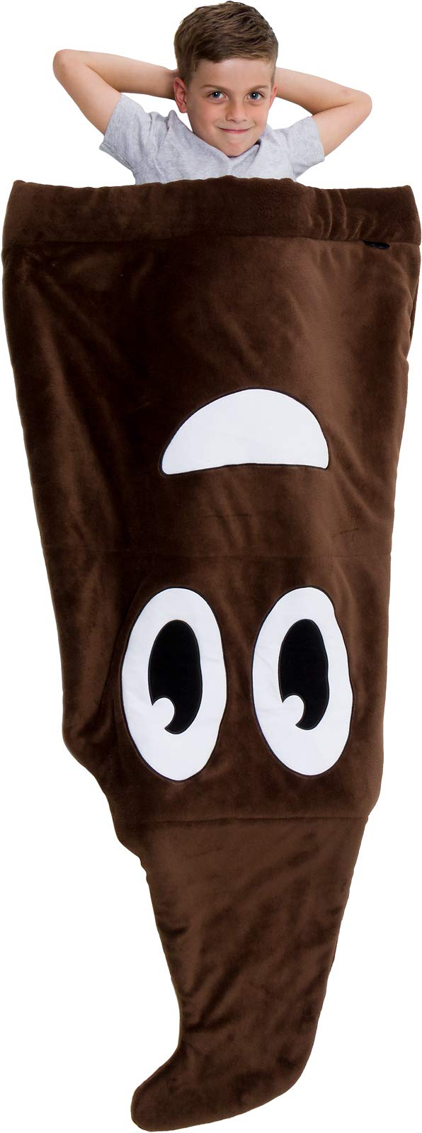 Silver Lilly Emoji Fleece Blanket - Novelty Plush Sleeping Bag Throw Blanket for Kids