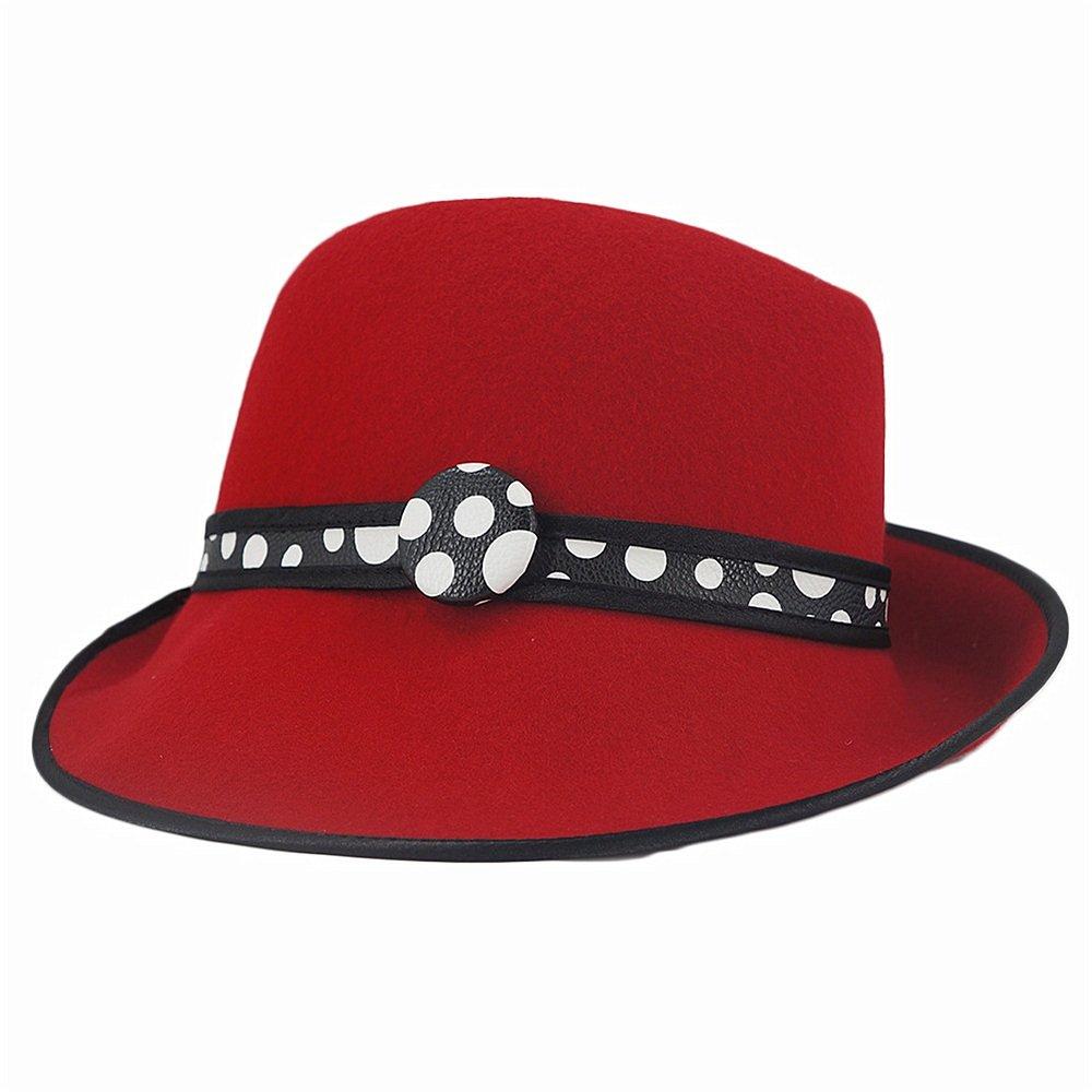 Shuo lan hu wai Damenhut Herbst und Winter Damen Wollfilzhut Pure Farbe Banquet Hat