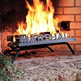 Personalized Fireplace Grate (Block Font) - Custom American-Made Steel with Fire Retardant Black Finish - Durable, Strong and Handcrafted - Perfect for Any Fireplace - Stay Cozy For the Holidays