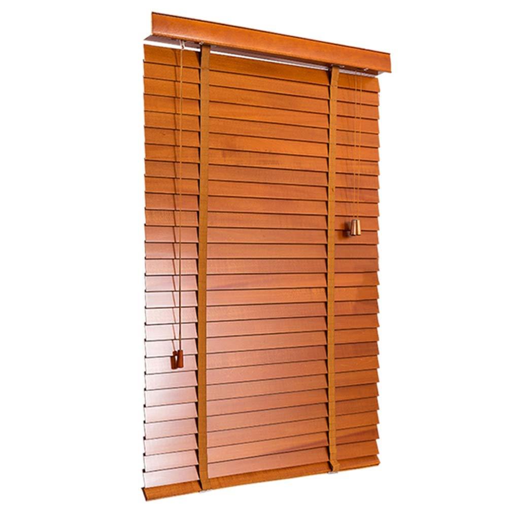 DS- カーテン ソリッドウッドブラインド寝室の研究リビングルームオフィスの木材ブラインド省力木材のロッド調光環境保護カスタマイズ可能 && (色 : Brown, サイズ さいず : 130x250cm)   B07M91GHHQ