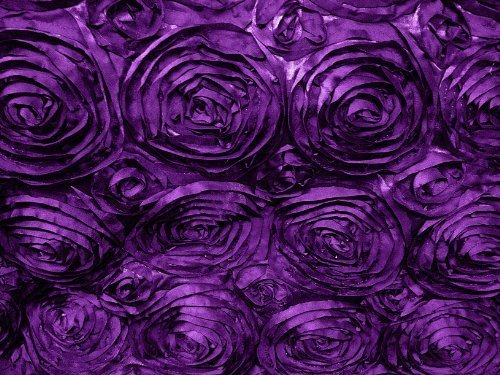 Satin Rosette Purple 60 Inch Fabric By the Yard from The Fabric Exchange ®