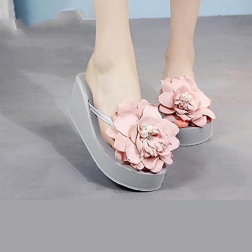 LIXIONG Tragbar Sommer Pantoffeln Strand Sandalen Mode Outdoor Schuhe Weiß, Schwarz, Braun Modeschuhe ( Farbe : Schwarz , größe : EU39/UK6/CN39 )