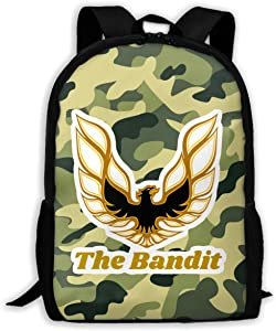 Smokey and The Bandit 1977 Pontiac Firebird Trans-Am Accurate Replica Hood Logo Unisex Backpack Cycling Shoulders Bag